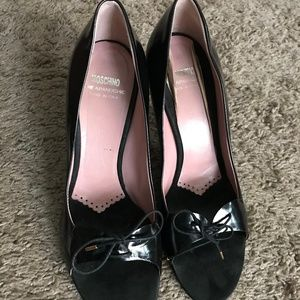 Moschino Ladies Black Heels Shoes- Size